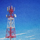 Paper with tower telecommunication — Foto de Stock