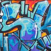 Street art on wall — Stock Photo