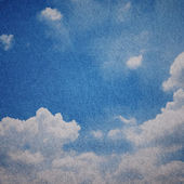 Paper with cloud pattern — Stock Photo