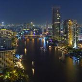 Vista de noche de bangkok — Foto de Stock