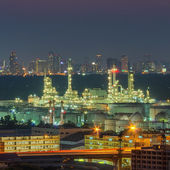 Panorama view of oil refinery factory — Stock Photo