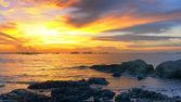 Sea dramatic evening sky. — Stock Photo