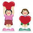 Girl with Heart — Stock Vector #13705726