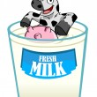 Royalty-Free Stock Vector Image: Cow and Milk