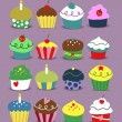 Royalty-Free Stock Vector Image: Cupcakes Collection