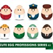 Stok Vektör: Egg Profession 02