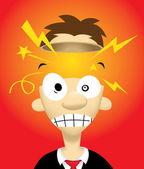 Exploding Head — Stock Vector