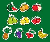 Fruit Sticker — Stock Vector