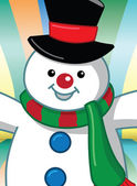 Snowman Cartoon — Vector de stock