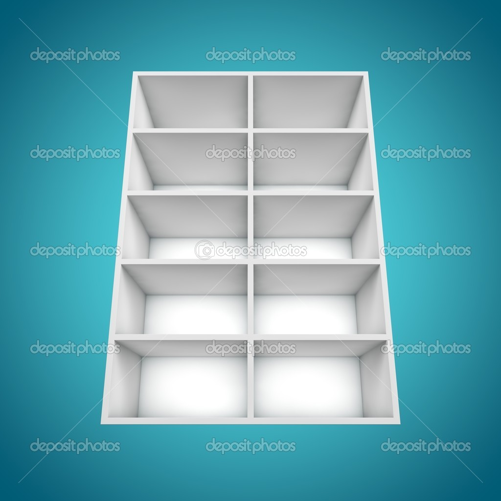 3D, different angle Bookshelf — Stock Photo #12545996
