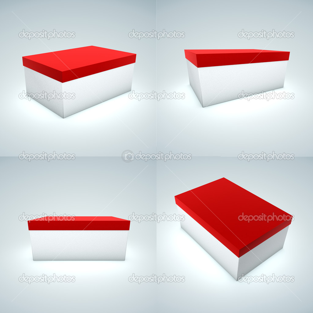 White Box with Red Cover — Stock Photo #12584292