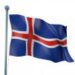 Island Flagge Detail render — Stockfoto