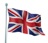 United Kingdom Flag Detail Render — Stock Photo