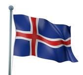 Iceland Flag Detail Render — Stock Photo
