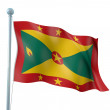 Grenada Flag Detail Render - Stock Photo