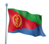 Eritrea Flag Detail Render — Stock Photo