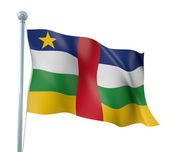 Central African Republic Flag Detail Render — Stock Photo