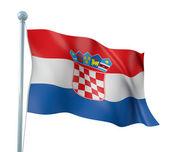 Render подробно флаг хорватии — Стоковое фото