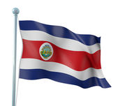 Costa Rica Flag Detail Render — Stock Photo