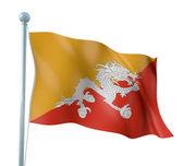 Rendering di dettaglio bandiera bhutan — Foto Stock