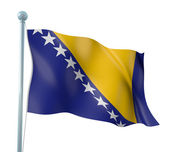 Bosnia and Herzegovina Flag Detail Render — Stock Photo