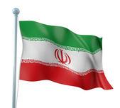 Iran Flag Detail Render — Stock Photo