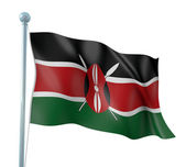 Kenya Flag Detail Render — Stock Photo