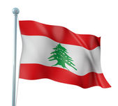Lebanon Flag Detail Render — Stock Photo