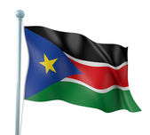 South Sudan Flag Detail Render — Stock Photo
