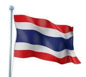 Thailand Flag Detail Render — Stock Photo