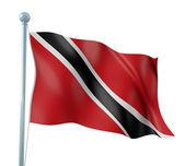 Trinidad and Tobago Flag Detail Render — Stock Photo