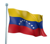 Venezuela Flag Detail Render — Stock Photo