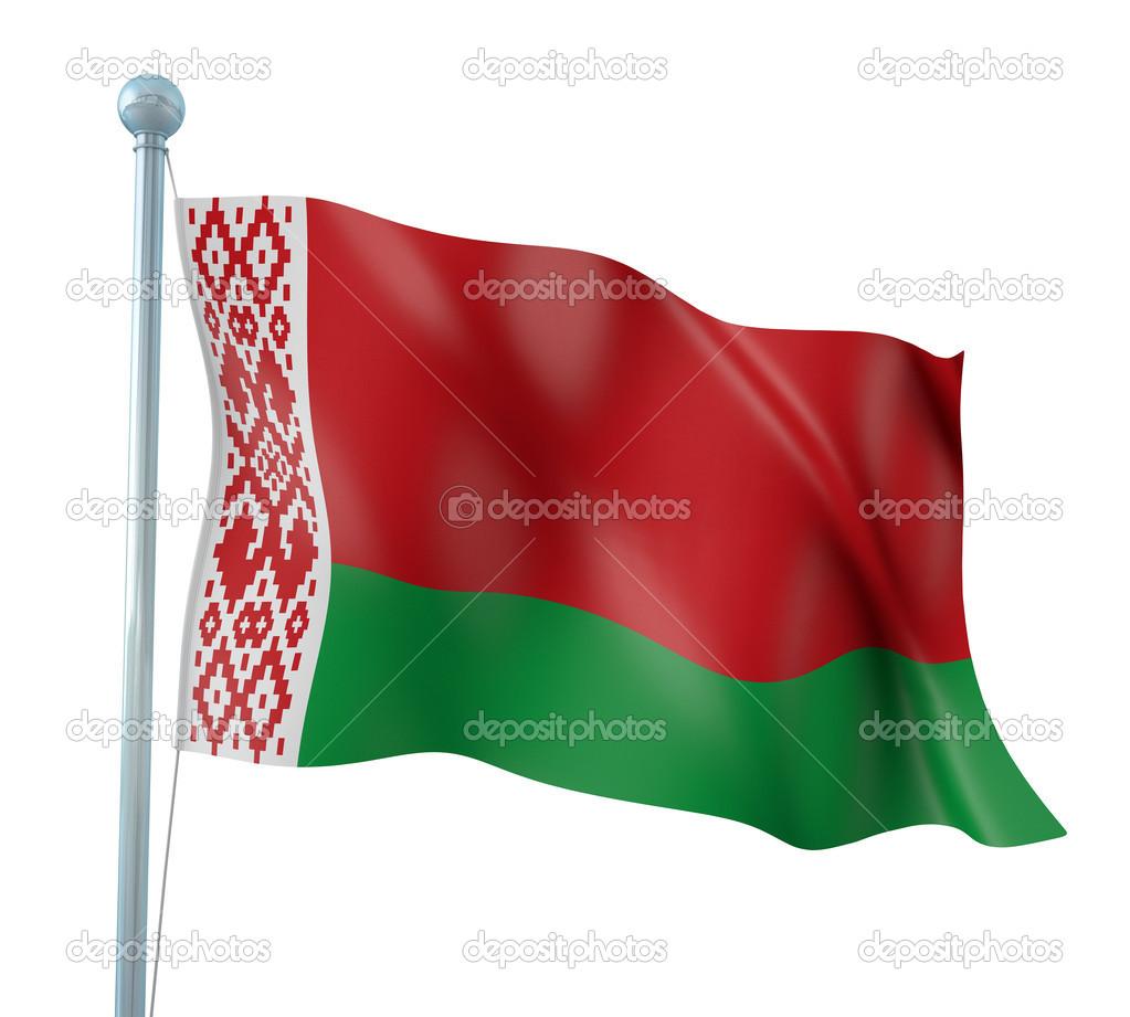 白俄罗斯国旗细节呈现