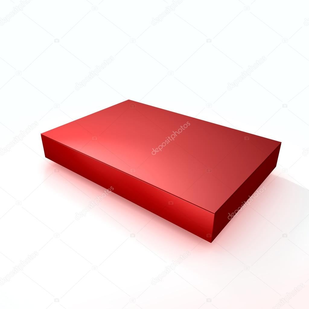 Empty Red Chocolate Box — Stock Photo #18547305
