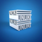 Cube Text of Unlike — Stock Photo