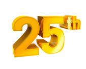 Gold Alphabet Anniversary 25 — Stock Photo