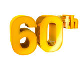 Gold Alphabet Anniversary 60 — Stock Photo