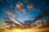 Evening colorful sky, sunset with clouds — Stock Photo