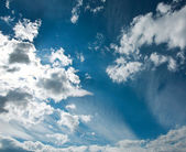 Blue sky and white clouds, nature background — Stok fotoğraf