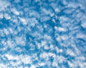 White clouds on blue sky, eco nature background — Stock Photo
