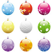 Christmas Ornaments Set — Stock Vector