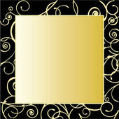 Gold Ornate Frame — Stock Vector