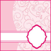 Pink Frame Background — Stock Vector