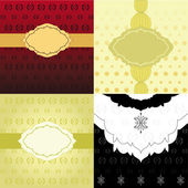 Set of Invitation Backgrounds — Stock Vector