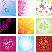 Vector background set — Stock Vector