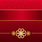 золотой красная карточка — Cтоковый вектор