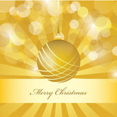 Vector christmas golden background — Stock Vector