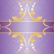 Purple Ornate Card — Stockvektor #18949293