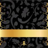 Golden Decorative Background — Stock Vector