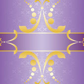 Purple Ornate Card — Stock Vector
